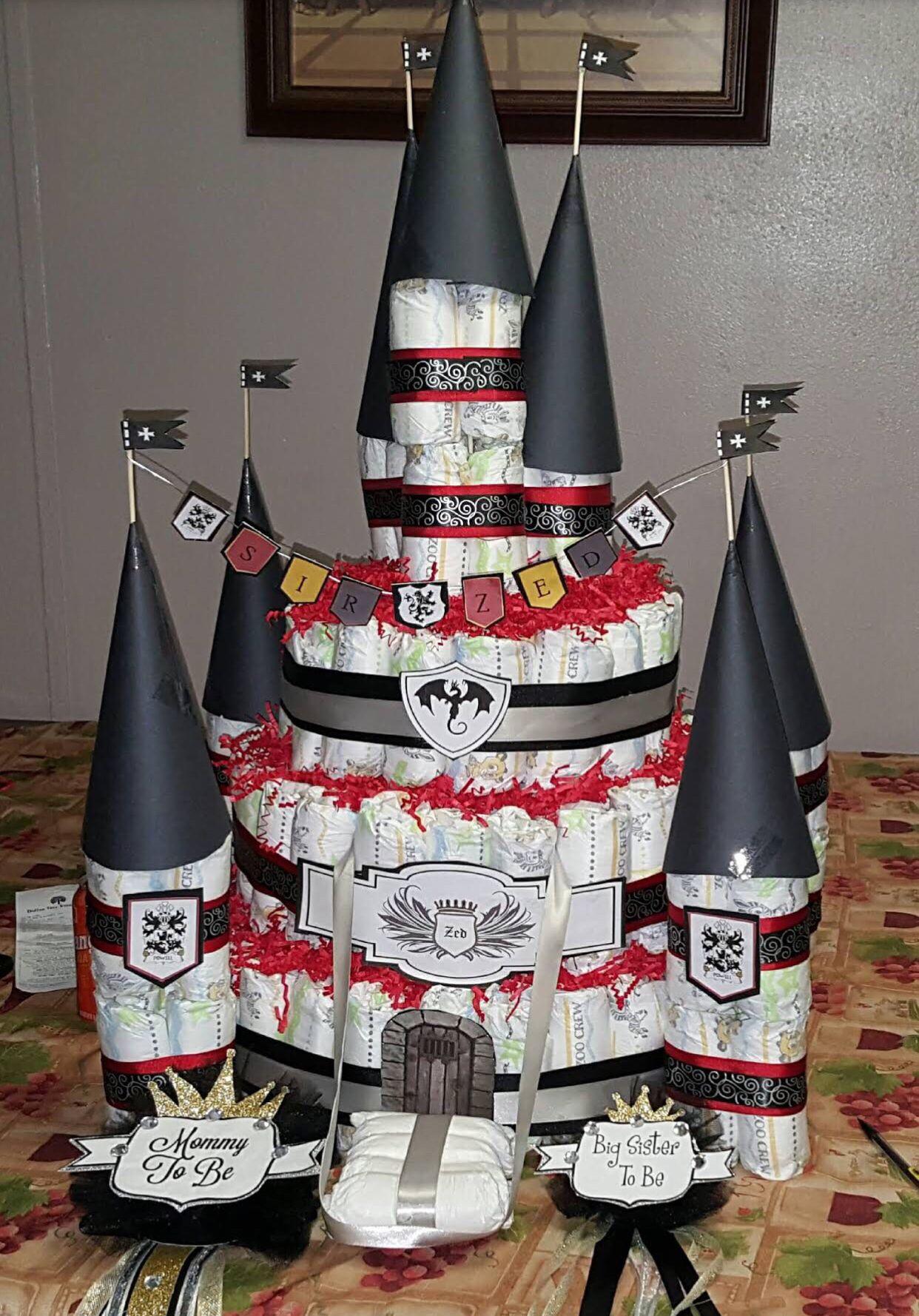 Medieval Diaper Cake Castle Diaper castle, Cake, Baby
