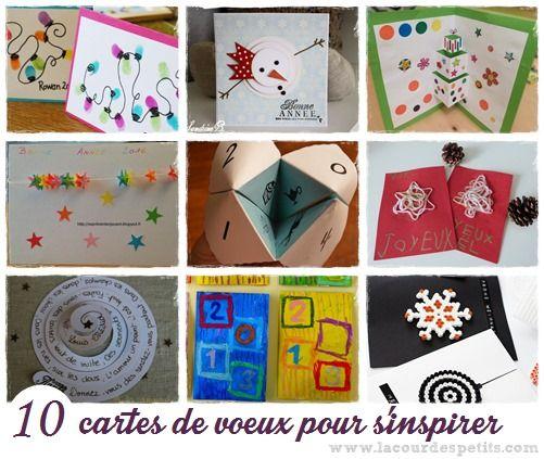 10 Cartes De Voeux A Fabriquer Avec Les Enfants Carte De Voeux