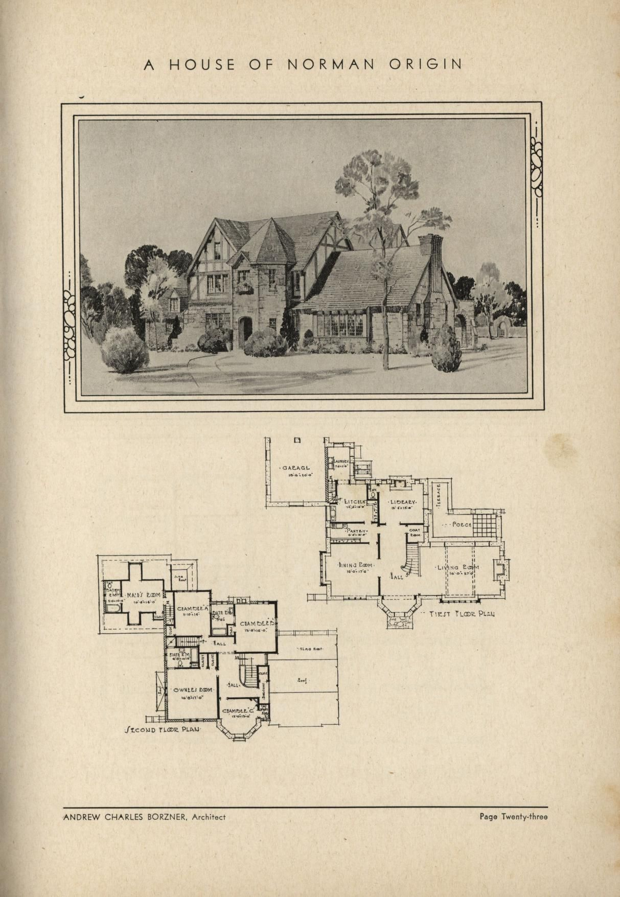1932 The Book Of Beautiful Homes House Floor Plans