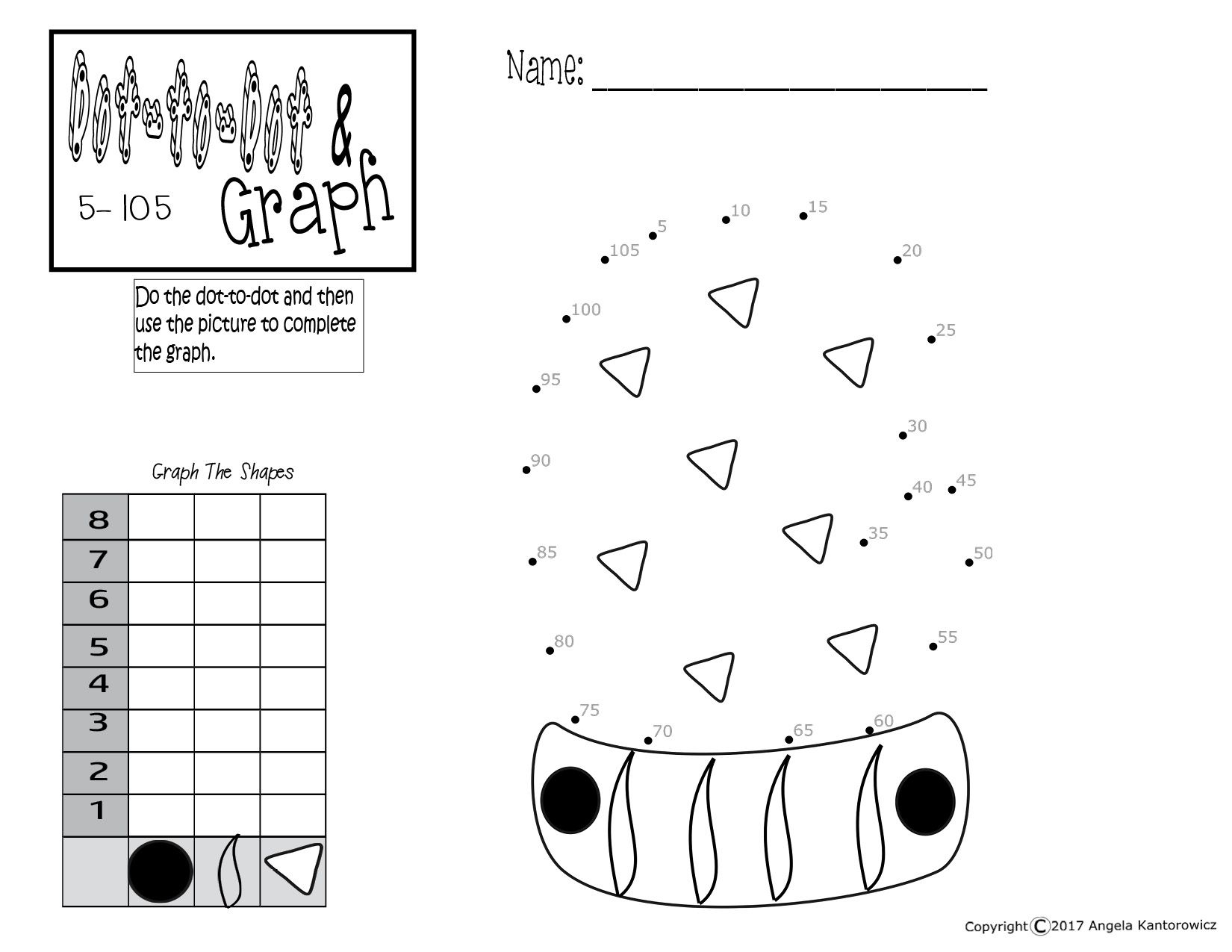 Dot To Dot And Graph Great Idea For Math Center Better