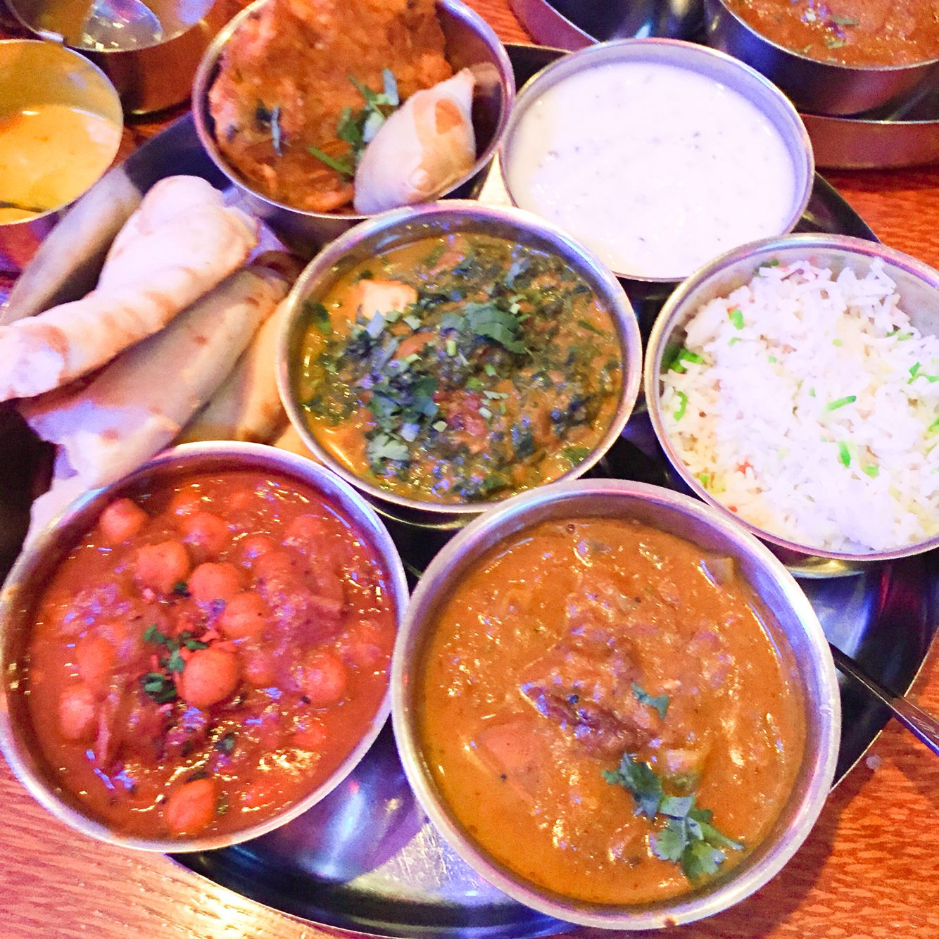 Vegetarian Thali Aladin Brick Lane London Indian Food Best In