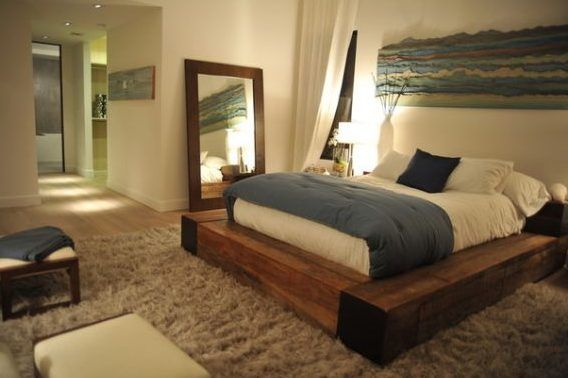 Bett selber bauen für ein individuelles Schlafzimmer-Design_diy bett - schlafzimmer kiefer massiv