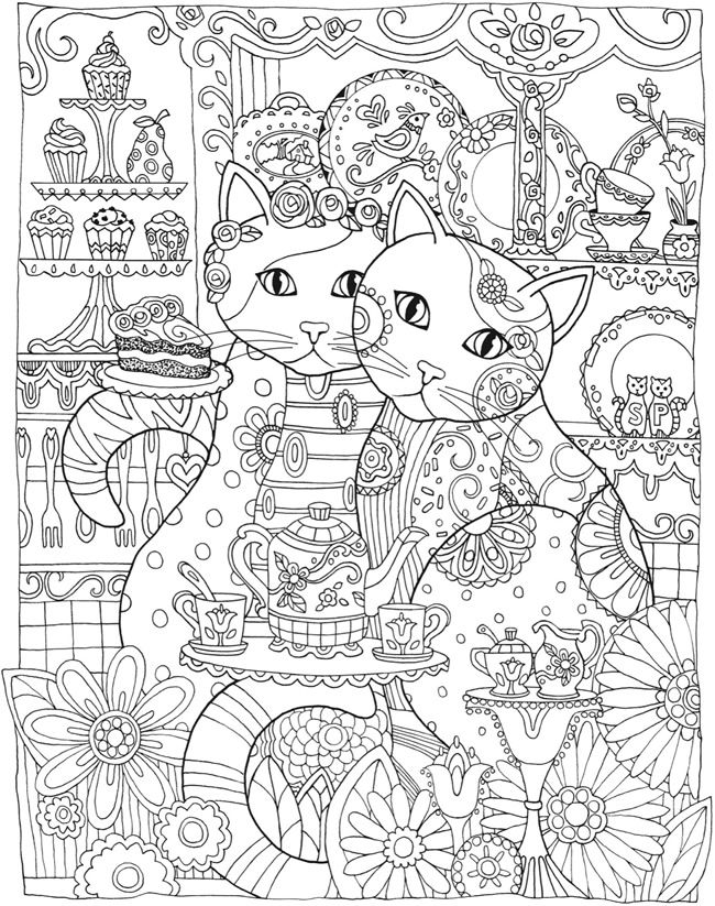 hard cat design coloring pages - photo#3