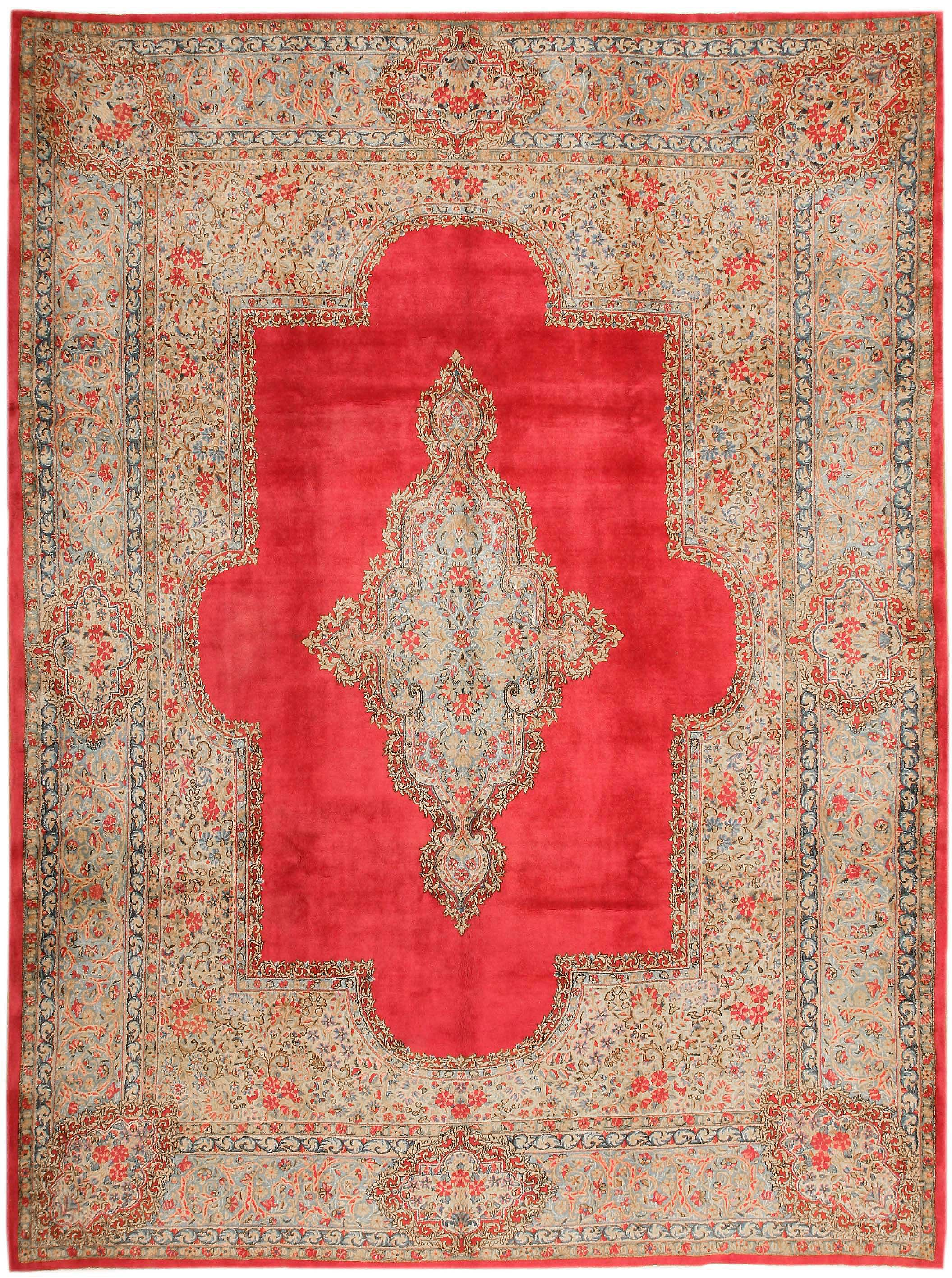"Antique ""American Kerman"" Rug: Early 20th Century."