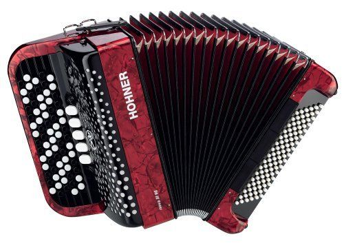 Hohner Nova Chromatic Accordion 96 Bass C System Red By Hohner
