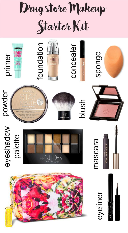 Drugstore Makeup Starter Kit Makeup starter kit, Makeup