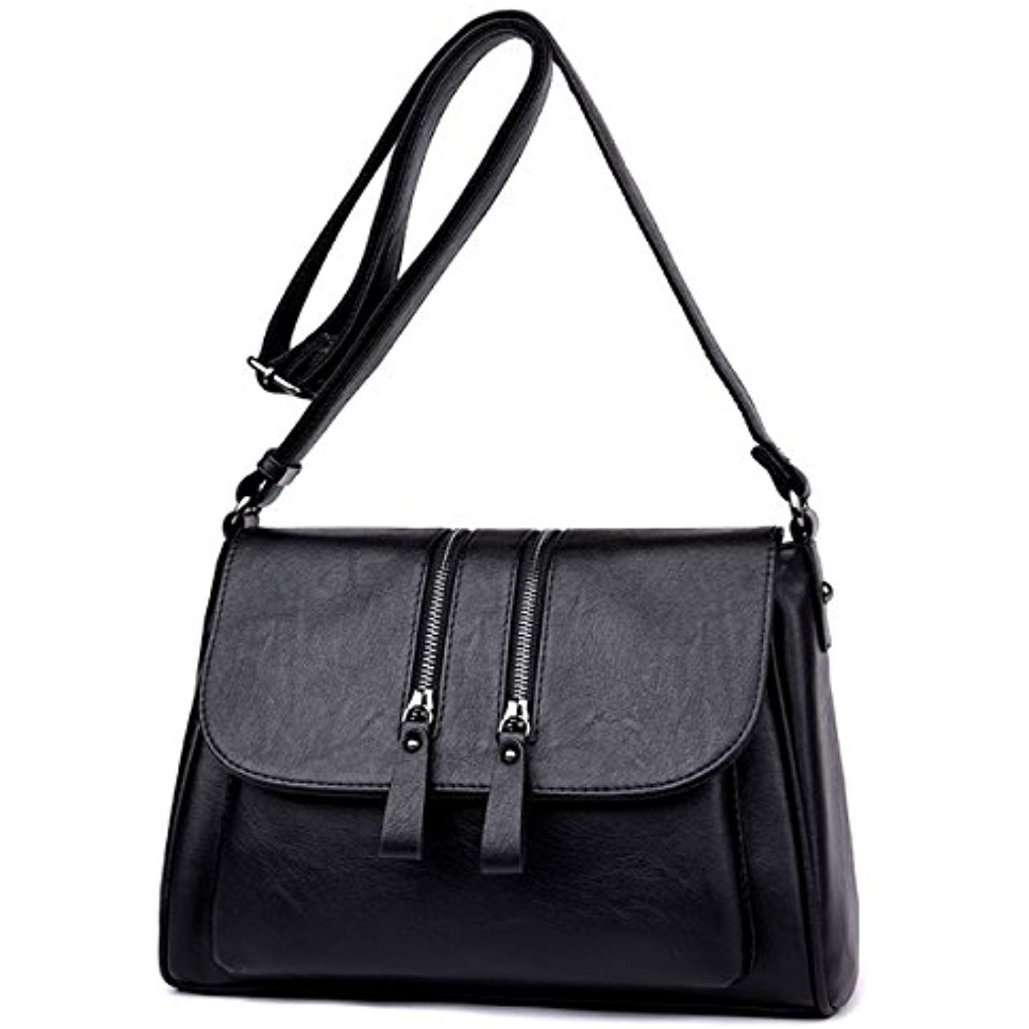 PU Faux Leather Multipocket Crossbody Bag - Fashion Crossbody Shoulder Bag  Chic Purse Wallet Handbag for Womens     Check out this great product. c495c29c2b901