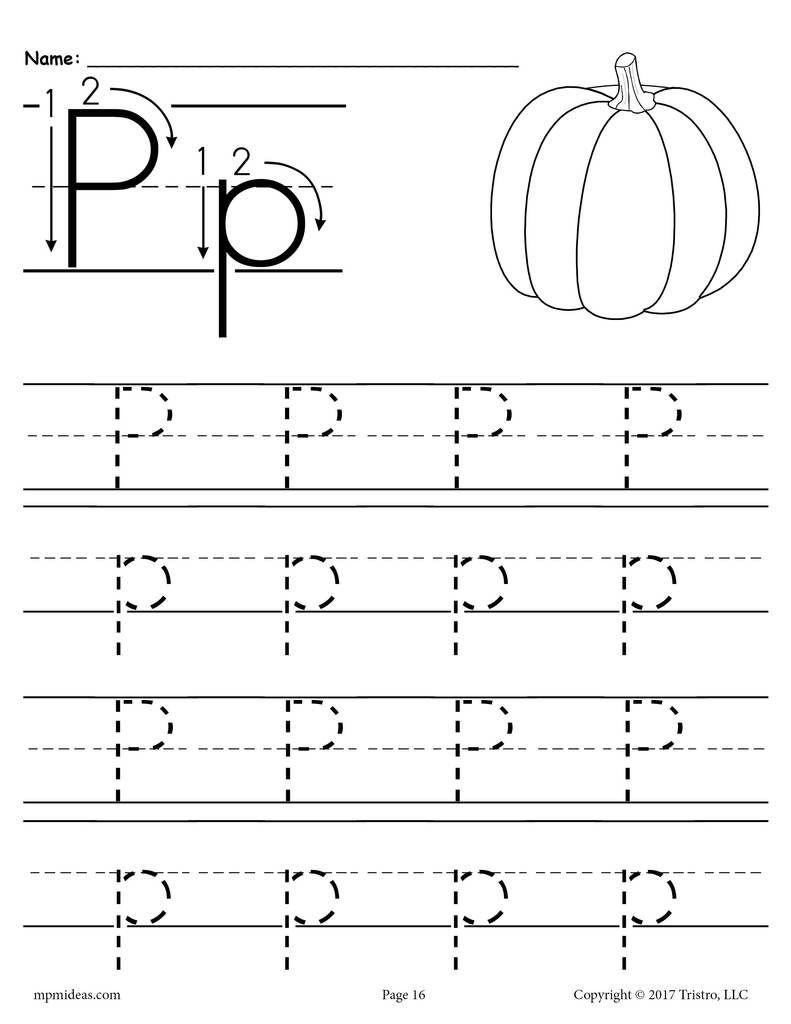 Printable Letter P Tracing Worksheet Letter P Worksheets Alphabet Tracing Worksheets Free Printable Letters