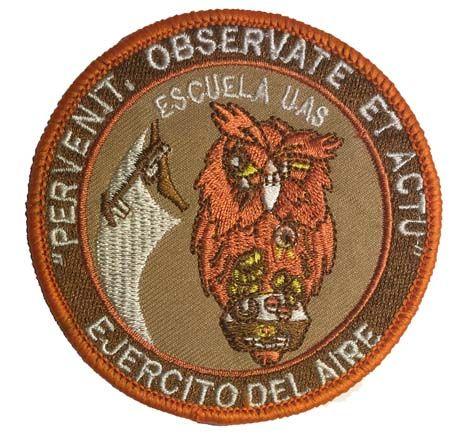 Escudo bordado UAS Buho árido  - uas modernas