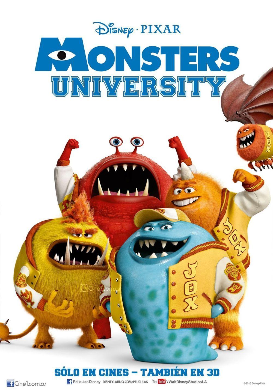 Animated Film Reviews Monsters University 2013 Prequel Arriving June 21 2013 Monster University Disney Posters Monster