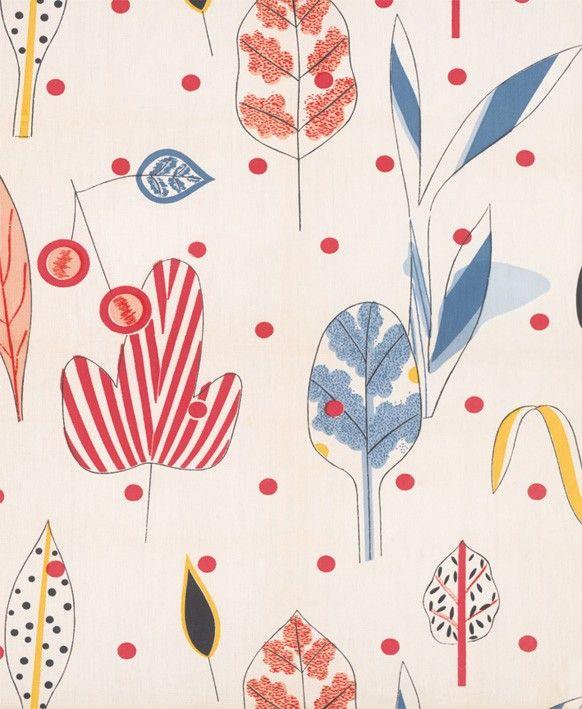 Textile Design (leaves)  victoria and albert museum #textiledesign