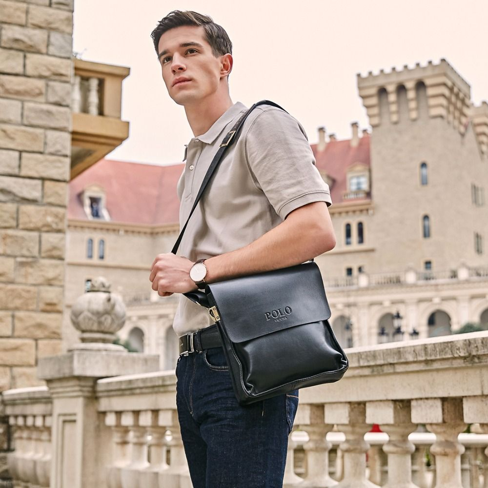 4708b43c1b VICUNA POLO Famous Brand Leather Men Bag Casual Business Leather Mens  Messenger Bag Vintage Men s Crossbody Bag bolsas male-in Crossbody Bags  from Luggage ...