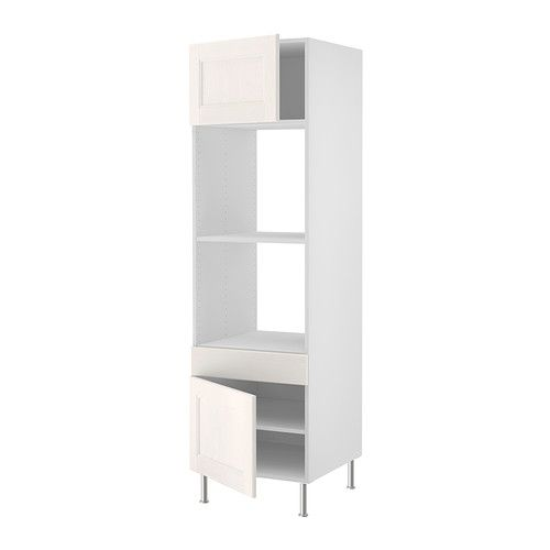 "Oven & Mircowave cabinet   $324.00 AKURUM High cabinet f built-in oven/micro - birch effect, Ramsjö white, 24x80 "" - IKEA"