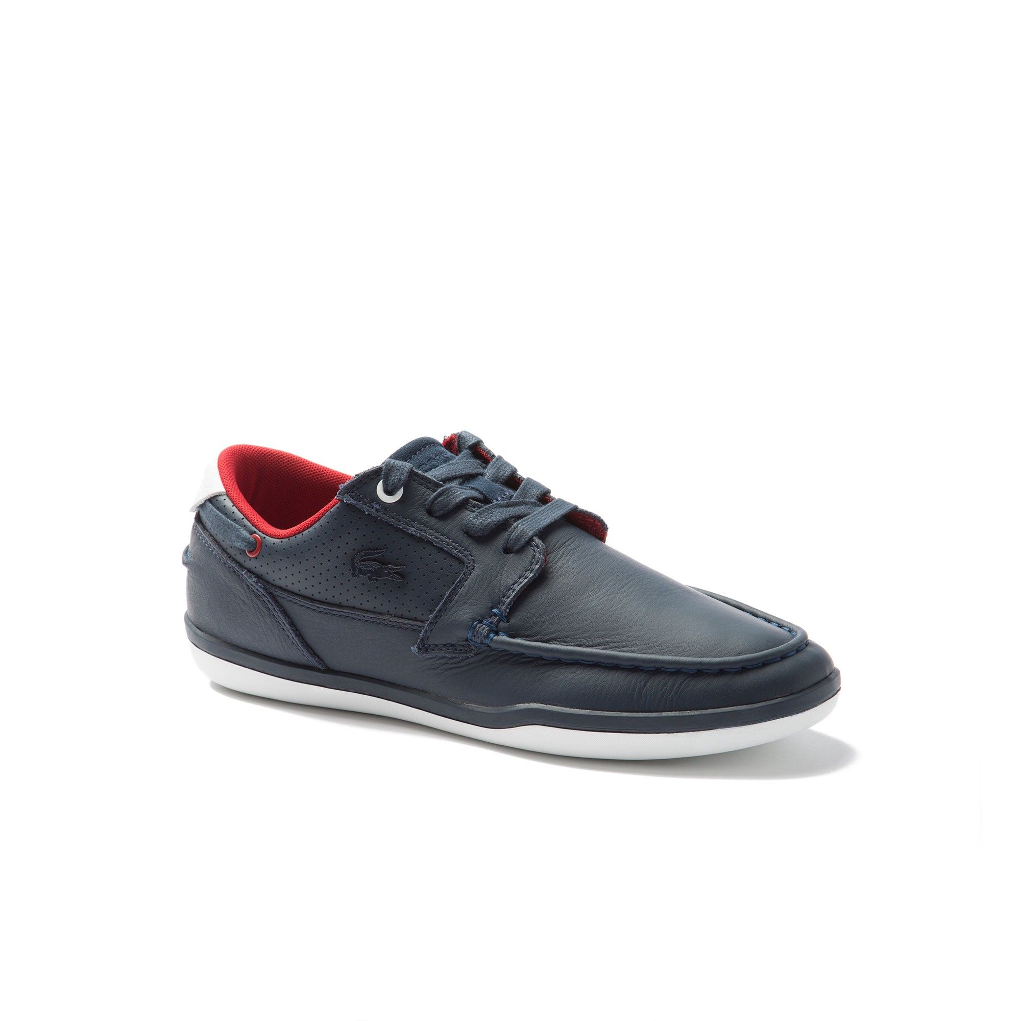 e1963e33fa46 LACOSTE Men s Deck-Minimal Leather Sneakers - navy white.  lacoste  shoes