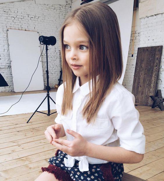 Cortes para ninas con cabello lacio