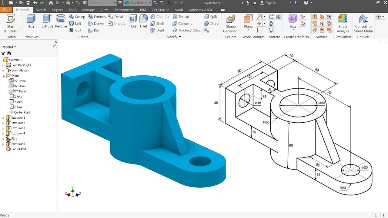free autodesk inventor tutorials for beginners