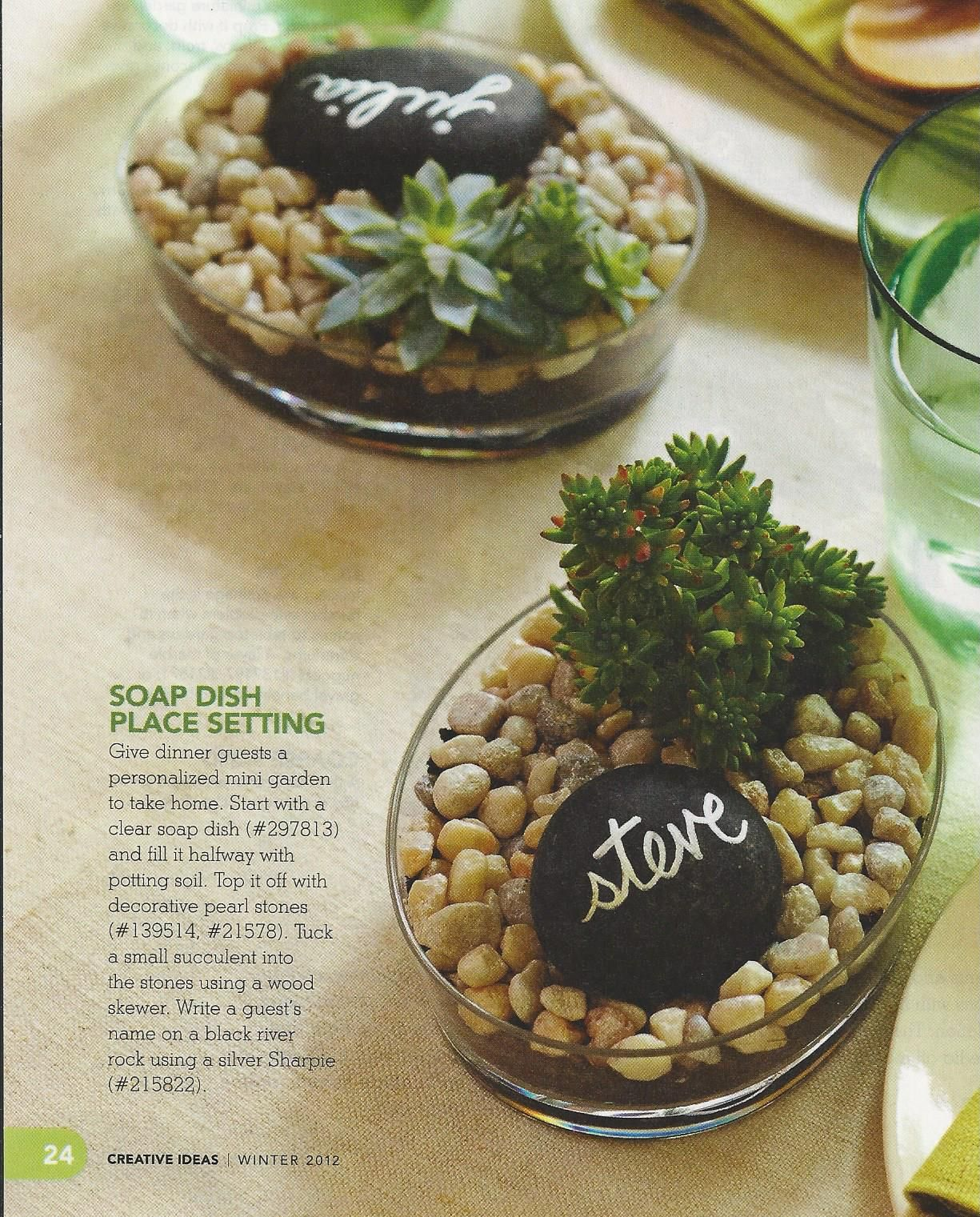 Lowes Tiny Planter Rock Garden Place Setting Marker Father S Day