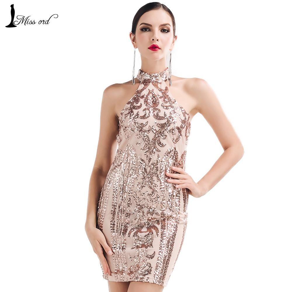Sexy O-neck sleeveless Retro pattern sequin dress | Pattern sequin ...