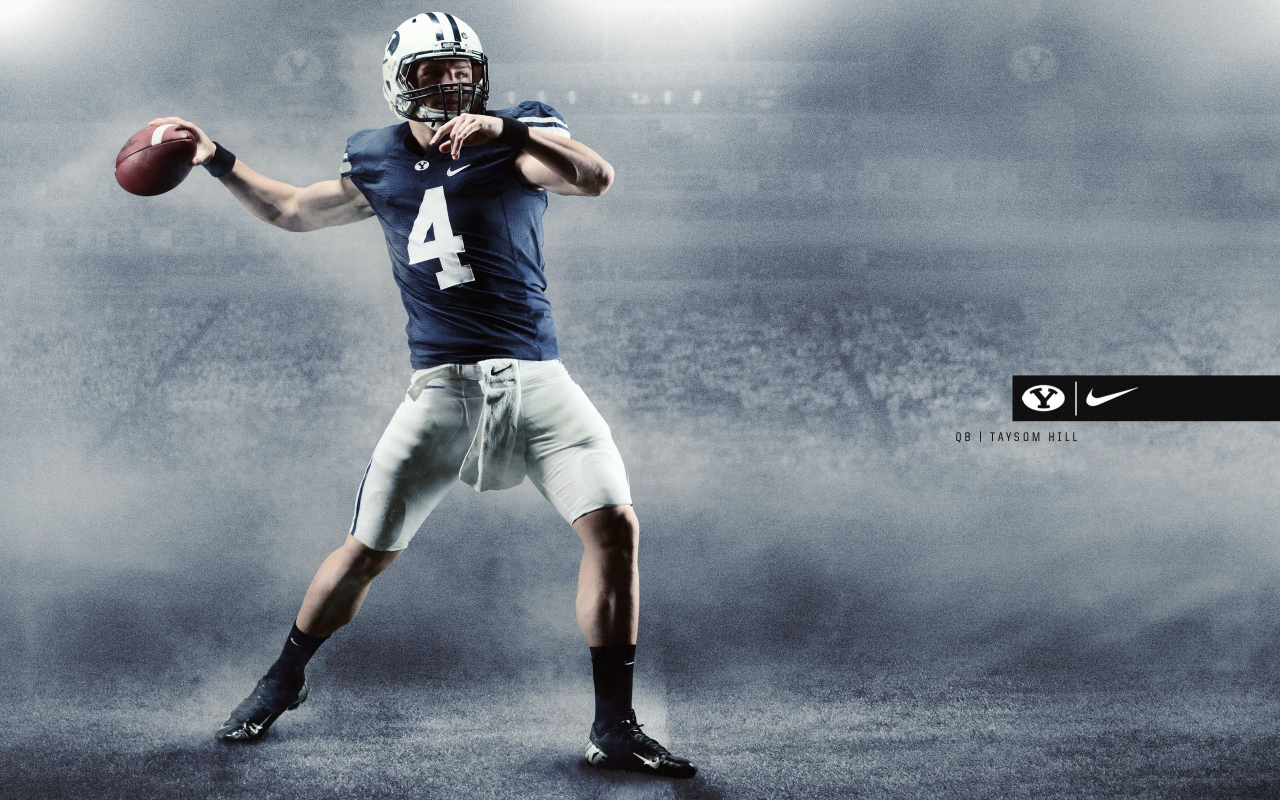 Taysom Hill Wallpaper Byu Football Football Poster Team Sports Pictures