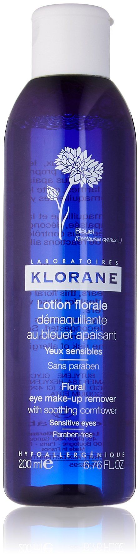 Klorane Eye MakeUp Remover with Soothing Cornflower 6.7 fl