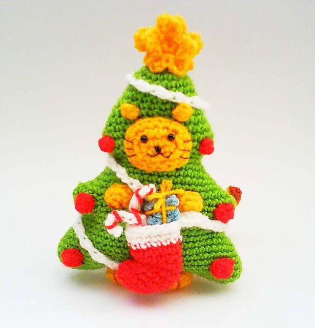 Ravelry: Kitty Cat Christmas Tree Costume PDF Crochet Pattern pattern by Jenny Lloyd