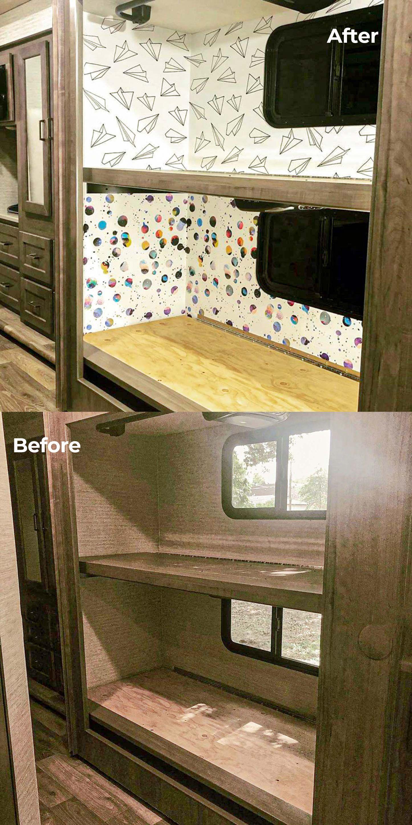 Rv Transformation Peel And Stick Wallpaper Removable Wallpaper Design Your Home Peel And Stick Wallpaper