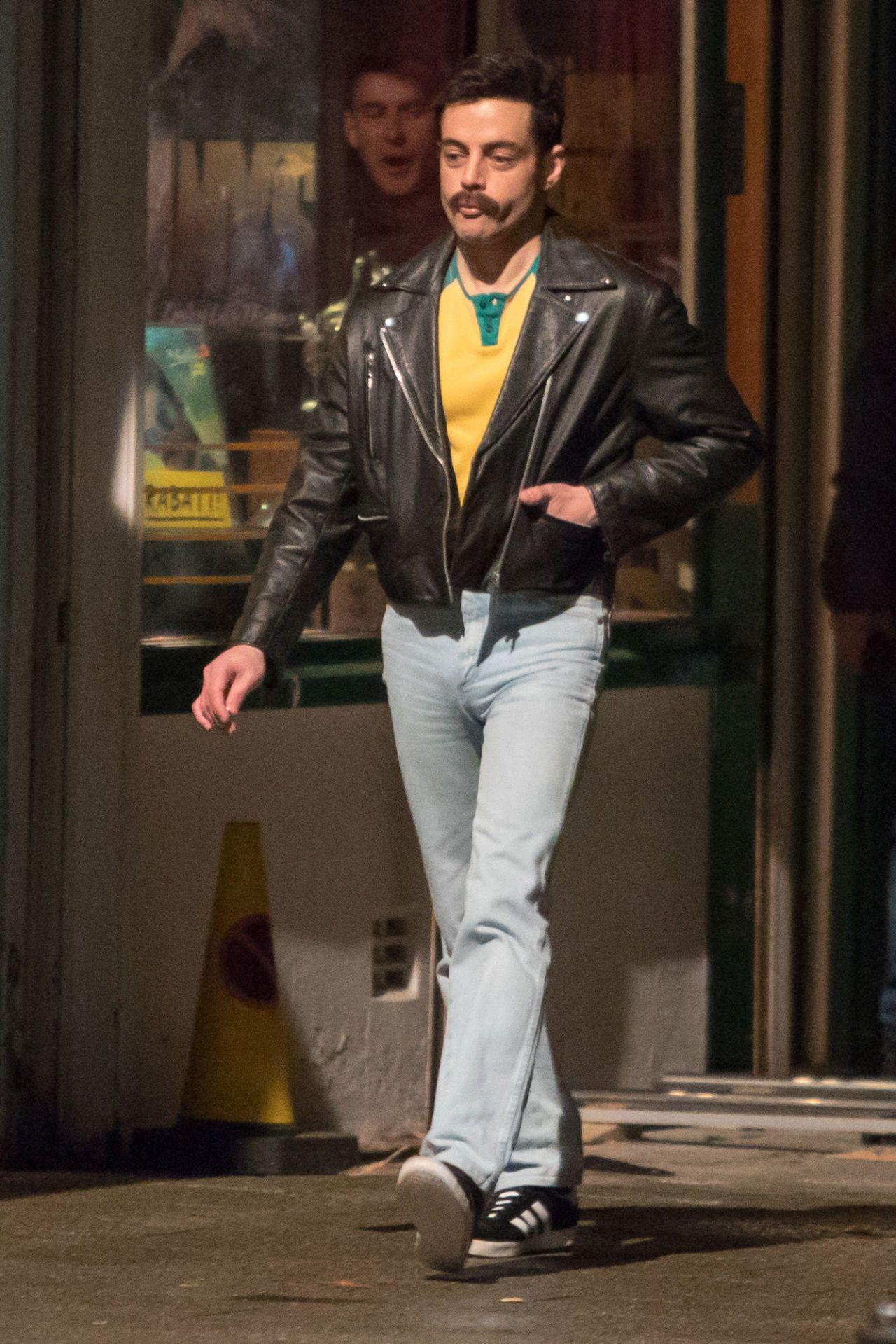Rami Malek Looks Effortlessly Cool As Freddie Mercury Aesthetics