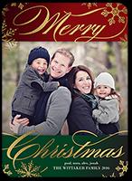 Illuminated Flurries Christmas Card