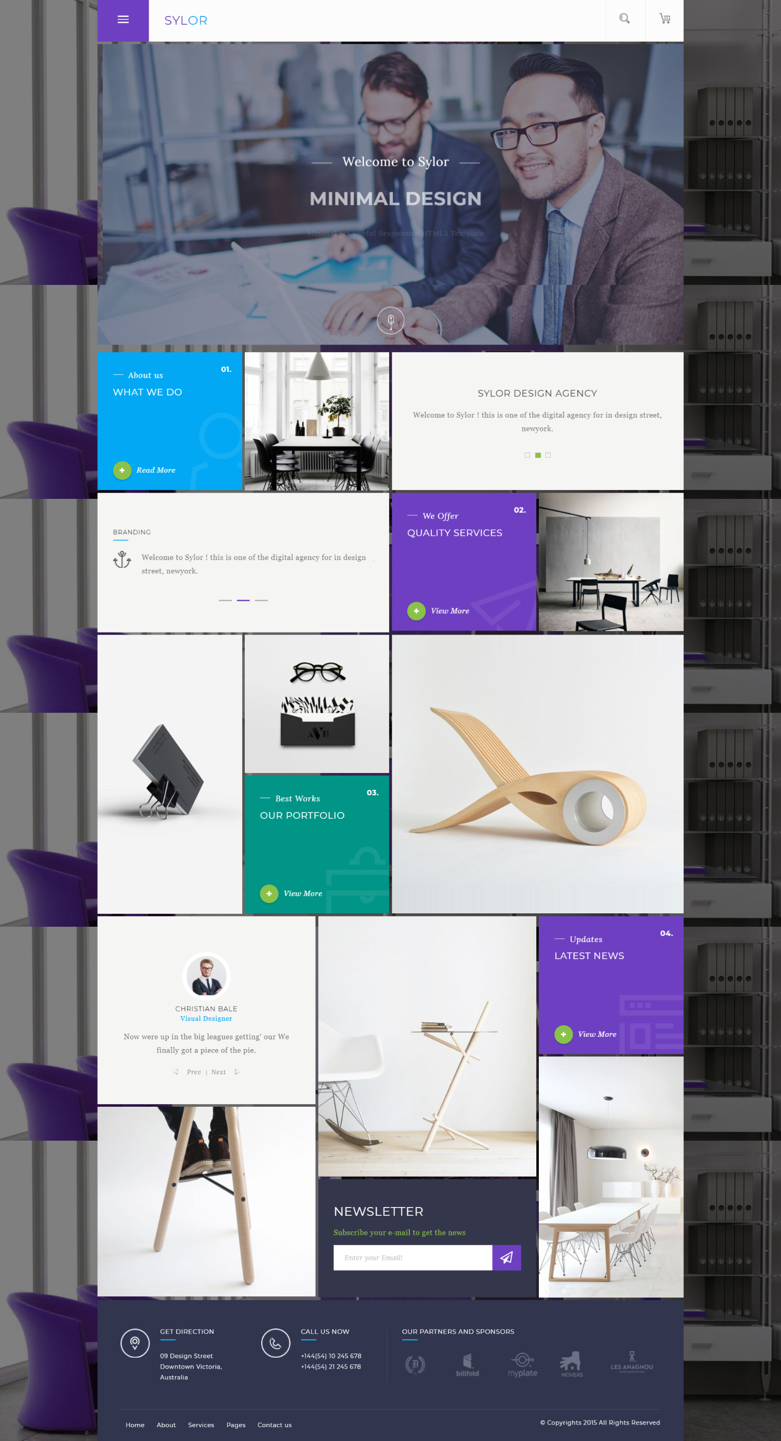 Sylor Creative Grid Layout Agency Portfolio Html Template Veb Dizajn Dizajn Sajt
