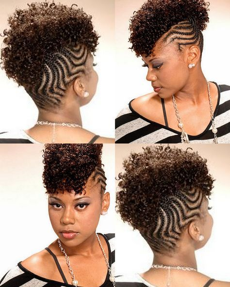 Cornrowed Mohawk Braided Mohawk Hairstyles Natural Hair Braids