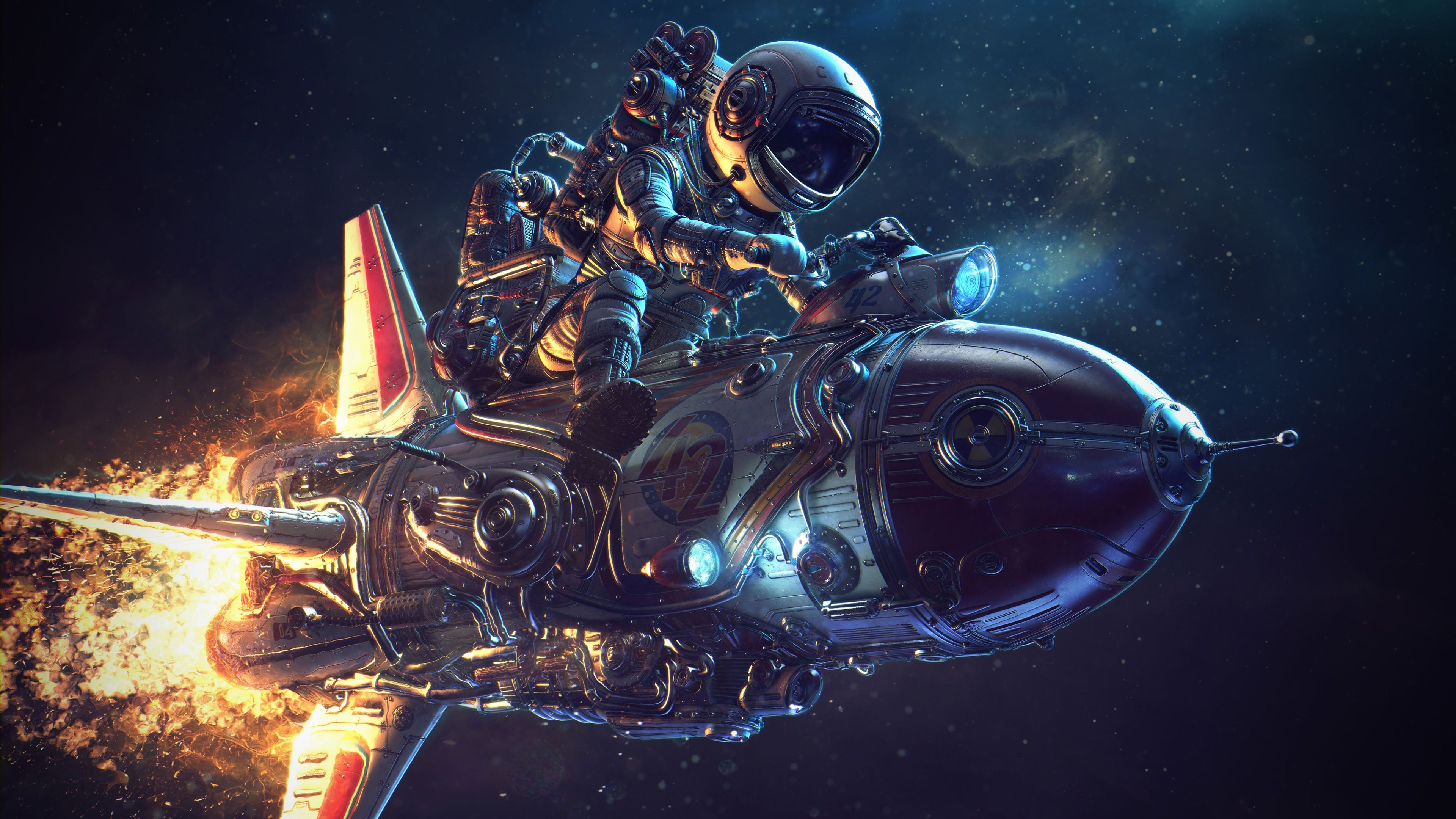 Astronaut Rocket Science Fiction 4k Science Fiction Wallpapers Rocket Wallpapers Hd Wallpapers Digital Art Wallpapers In 2020 Astronaut Wallpaper Astronaut Art Art