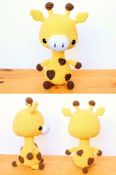 Giraffe Häkelanleitung, Amigurumi Giraffe, Giraffe Amigurumi Anleitung, Häkelanleitung #crochetgiraffepattern
