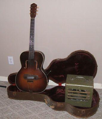 1930 39 s troubadour electric guitar tube amp vintage old sound design lectrolab guitars and. Black Bedroom Furniture Sets. Home Design Ideas