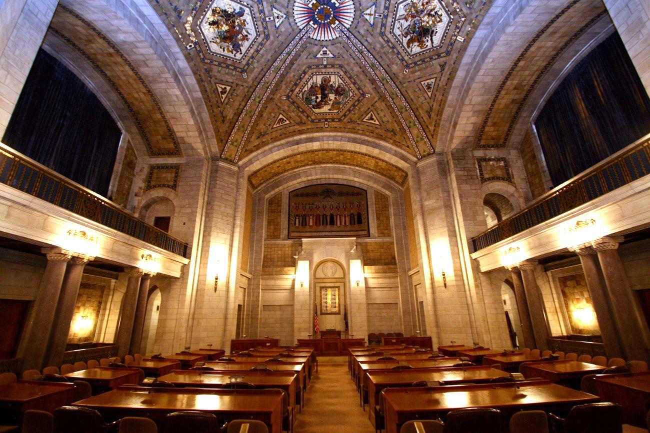 Nebraska Capitol Building. The Old Senate. Capitol