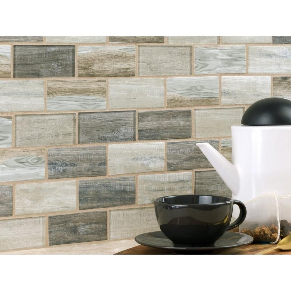 - Sand Drift Glass Mosaic - 2in. X 4in. - 100463140 Floor And