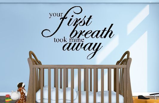 your fist breath took mine away wall decal #charmingCustoms #Contemporary