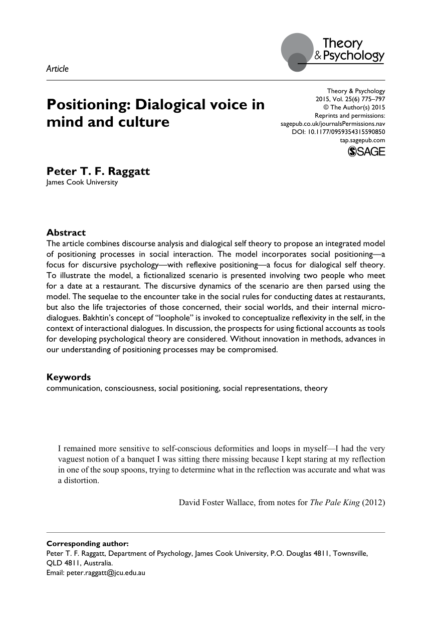 PDF | The article combines discourse analysis and dialogical