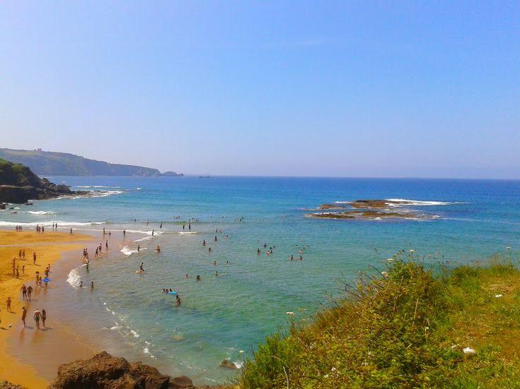Google+Playa de la Ñora, en el concejo de Villaviciosa.