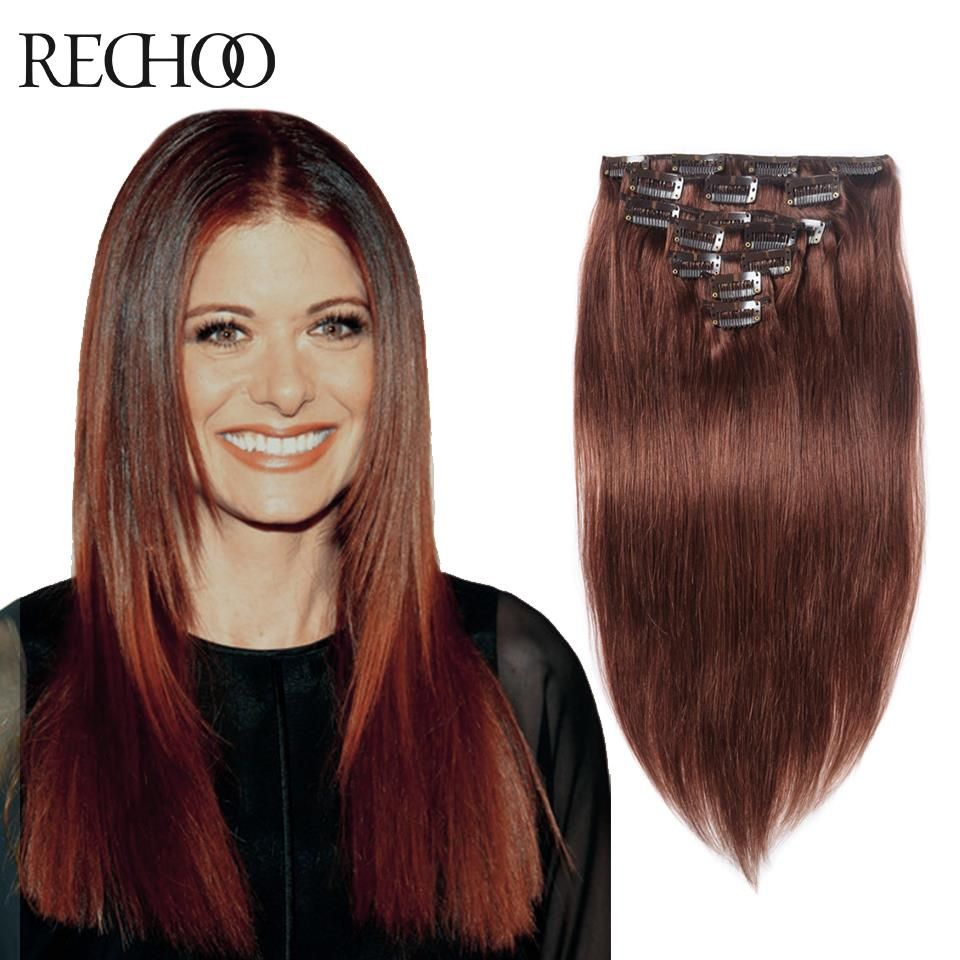 22 Inch Clip In Human Hair Extensions Real Human Hair Brazilian