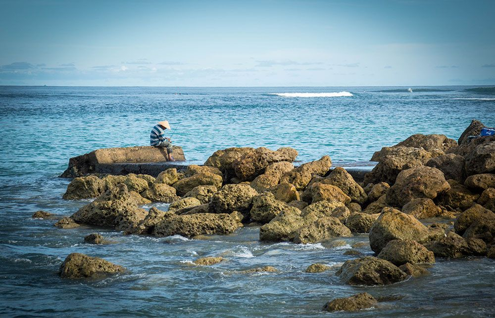 Fisherman - Nikko Beach, Bali, Indonesia