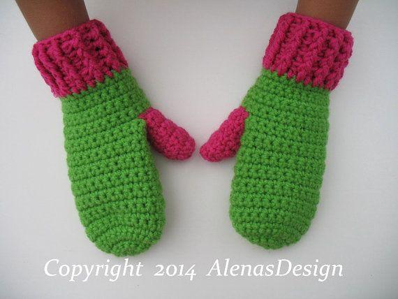 Crochet Mitten Pattern Crochet Pattern 104 For Blugi Pinterest