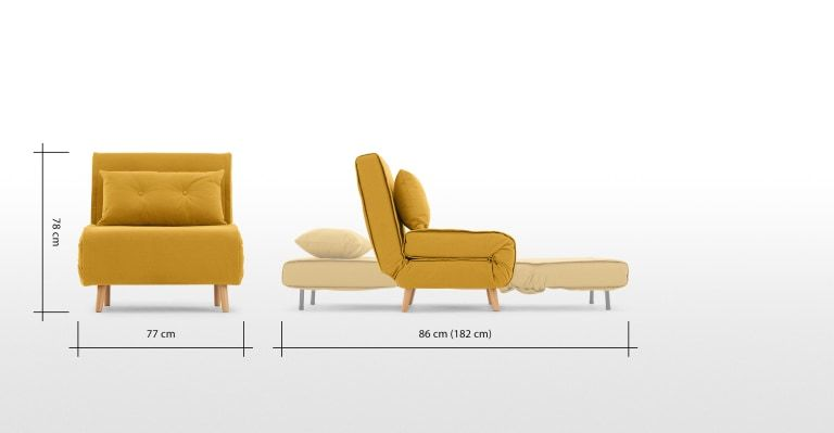 Haru Schlafsessel Buttergelb In 2020 Schlafsessel Bettsofa Single Couch