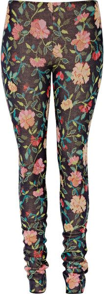 MARY KATRANTZOU  Dark Dynasty Knitted Silk-blend Leggings