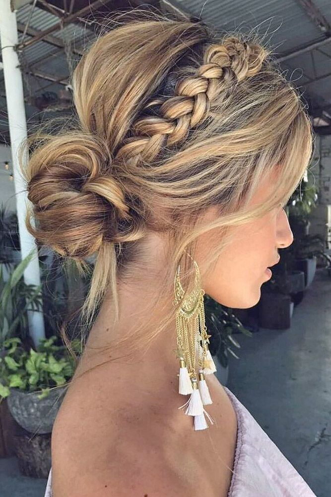 wedding updos with braids