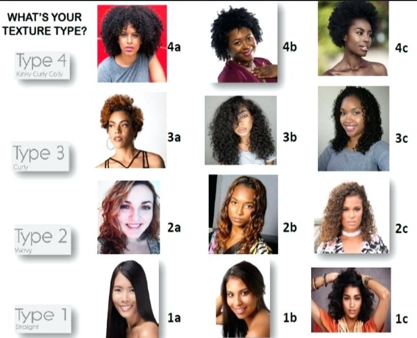 Curly Hair Texture Chart All Types Charter Business Login Haircut Types Hair Type Chart Medium Hair Styles