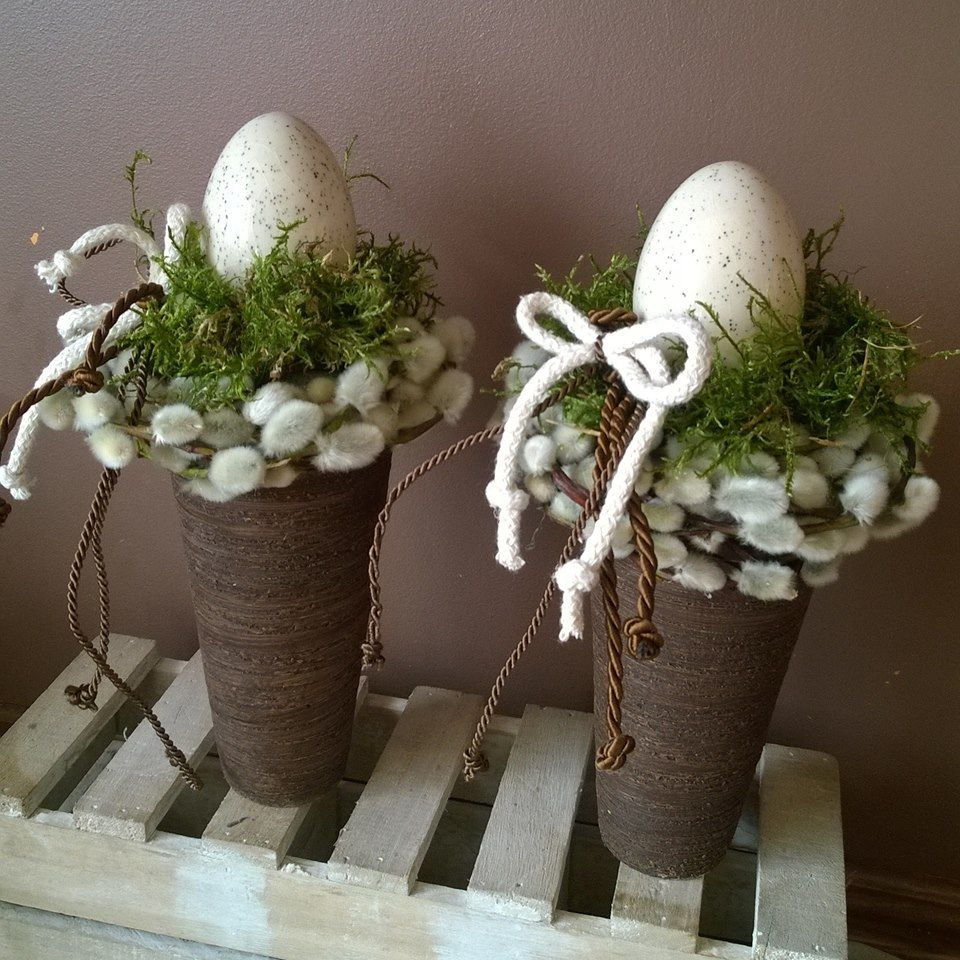 this would even be a clever idea with small eggs in the nest....or some small branches with egg ornaments hanging from them....