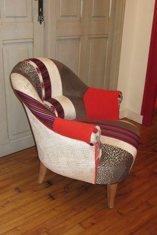la paire recompos e fauteuil retapisser un fauteuil. Black Bedroom Furniture Sets. Home Design Ideas