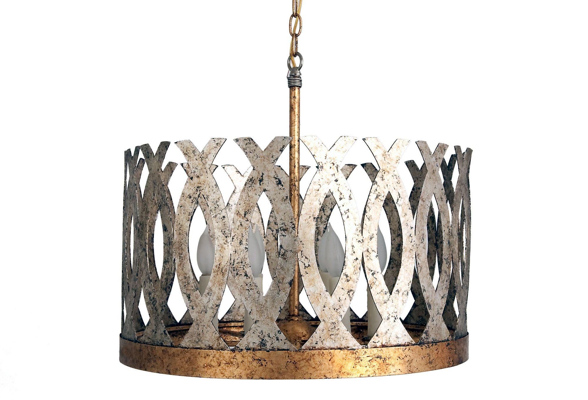 One kings lane handcrafted lighting ingrid wide chandelier in one kings lane handcrafted lighting ingrid wide chandelier in silver arubaitofo Images