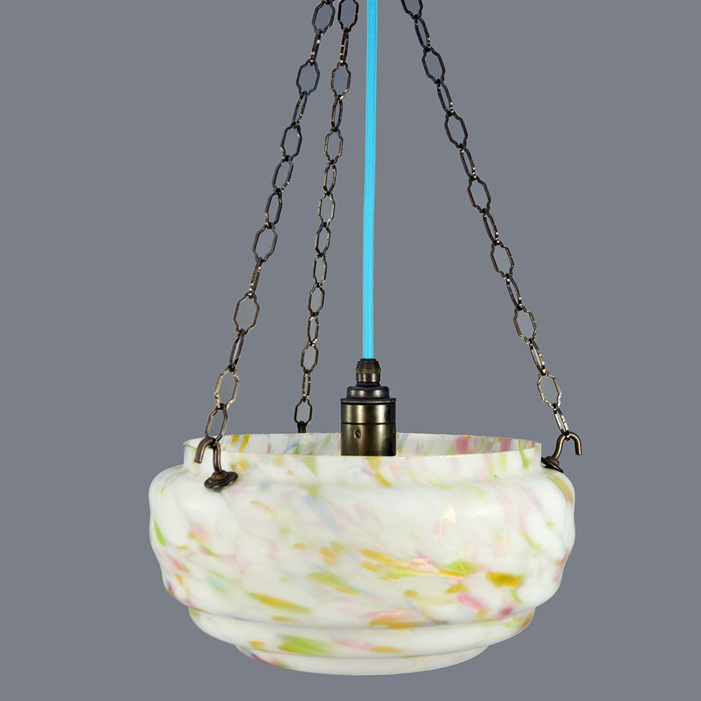Ceiling Light Near Me Art Deco Soft Marbled Design Flycatcher Glass Bowl Ceiling