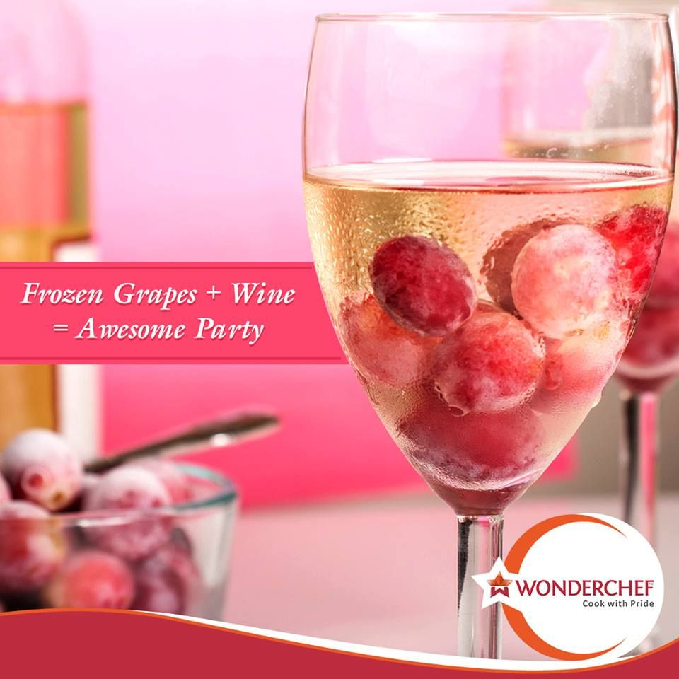 This Tipoftheday Will Make You A Favourite Host For Cocktail Parties Use Frozen Grapes To Chill Your Wine Without Watering It Dow Frozen Grapes Grapes Frozen